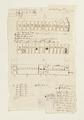 Ritningar och utkast till byggnad. Av Nils Bielkes hand, cirka 1700 - Skoklosters slott - 98148.tif