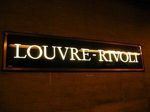Louvre – Rivoli (Paris Métro) - Image: Rivoli Font LTR