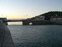 Road bridge to island of Murter, in Tisno, Croatia, 14.10.2007.jpg