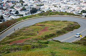 49-Mile Scenic Drive - The route along its descent from Twin Peaks