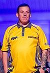 Rob Cross 5-6 Dave Chisnall - Dave Chisnall - 2019251194358 2019-09-08 PDC European Darts Matchplay - 0137 - AK8I0138 (cropped).jpg