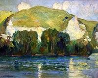 Robert Antoine Pinchon, Falaises de Belbeuf, oil on canvas, 50 x 61 cm.jpg