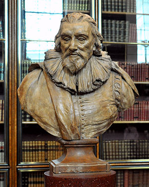 Sir Robert Cotton, 1st Baronet, of Connington - A bust of Robert Cotton by Louis-François Roubiliac