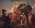 Robert Clive and Mir Jafar after the Battle of Plassey, 1757 by Francis Hayman.jpg
