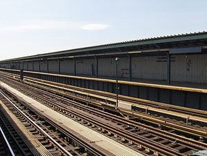 Rockaway Boulevard (IND Fulton Street Line) - Station before renovation