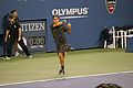 Roger Federer at the US Open 2011 backhand.jpg