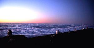 Roque de los Muchachos Observatory - Image: Roque de los muchachos observatory sunset