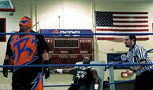 Rosey (wrestler) - Anoaʻi as Rosey facing Brother Devon in Franklin, Pennsylvania, in 2006.