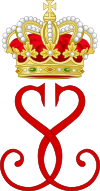 Royal Monogram of Princess Stephanie of Monaco.svg