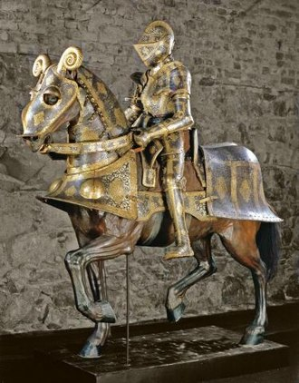 Plate armour - Full plate armour for man and horse commissioned by Sigismund II Augustus (1550s).