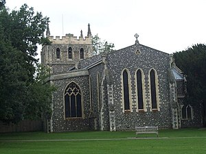 Royston, Hertfordshire - Image: Royston Church geograph.org.uk 977495
