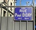 Rue Paul Diday (Lyon) - plaque de rue.JPG