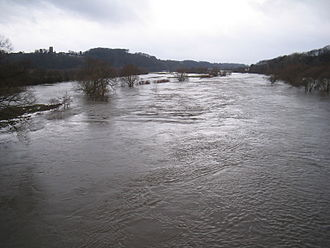 Ruhr (river) - The Ruhr valley near Bochum during a flood