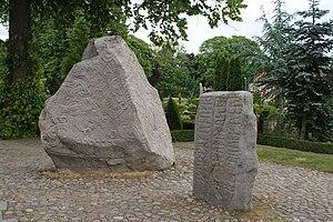 Danish literature - The runestones at Jelling