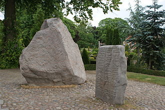 Danish literature - The runestones at Jelling