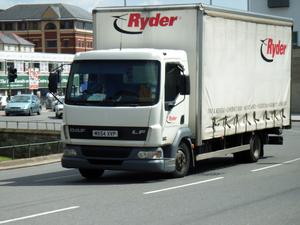 Ryder - A Ryder DAF LF45 truck in the United Kingdom