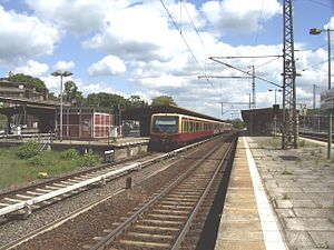 Berlin-Wannsee station - S-Bahn train at Berlin-Wannsee station