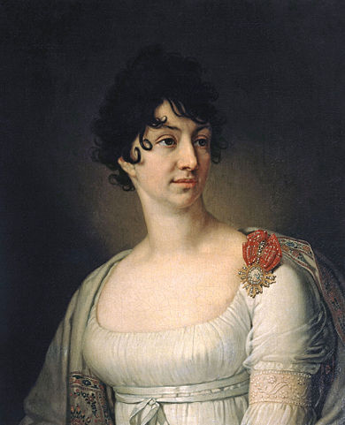 Софья Алексеевна Раевская— жена Николая Николаевича. В.Л.Боровиковский, 1813г.