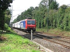 Oberhausen-Osterfeld Süd–Hamm railway - SBB class 482 locomotive in Recklinghausen-Suderwich