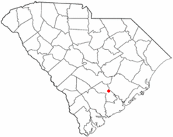 Location of Ridgeville, South Carolina