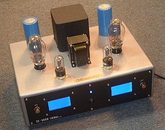 Valve amplifier - A 300B preamp/solid state output 70Wrms/ch hybrid amp