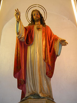 Sacred Heart - Image representing the Sacred Heart of Jesus in Saint Vincent de Paul Parish Church, Ermita, Manila, Philippines