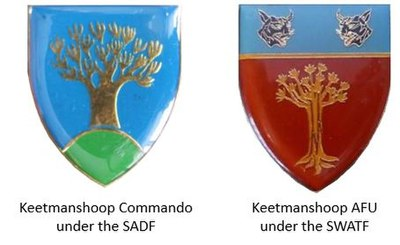 SWATF era Keetmanshoop Commando Area Force Unit insignia