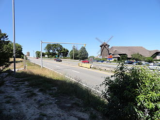Sagamore Bridge - The southern approach to the bridge