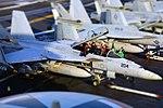 Sailors prepare an F A-18F Super Hornet for flight aboard USS George H.W. Bush. (33107489776).jpg