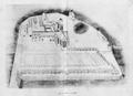 Saint-Jean-aux-Bois (60), abbaye, vue cavalière vers 1640.png
