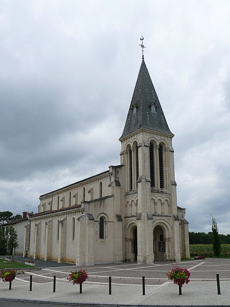 Saint-Pantaléon-and-Saint-Barthélémy's church of Saint-Pandelon (Landes, Aquitaine, France).