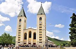 Saint James Church (St. Jakov) Medjugorje - Hotel Pansion Porta - Bosnia Herzegovina - Creative Commons by gnuckx (4695237966).jpg