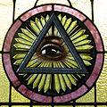 Saint Joseph Catholic Church (Wapakoneta, Ohio) - stained glass, Trinitarian Eye of Providence.jpg