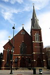 Saint Peter Catholic Church (Charlottle, North Carolina) - view from across S. Tryon Street.JPG
