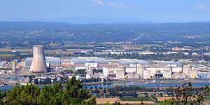 Die vier Reaktoren des Kernkraftwerks Tricastin