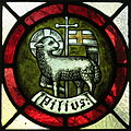 Saint Vincent de Paul Catholic Church (Mount Vernon, Ohio) - stained glass, Son.JPG
