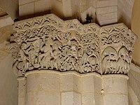 Saintes (17) Basilique Saint-Eutrope Intérieur Chapiteau 07.JPG
