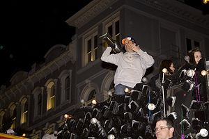 Sean Payton - Payton in the Saints Victory Parade on Canal Street, New Orleans after the Super Bowl XLIV win.