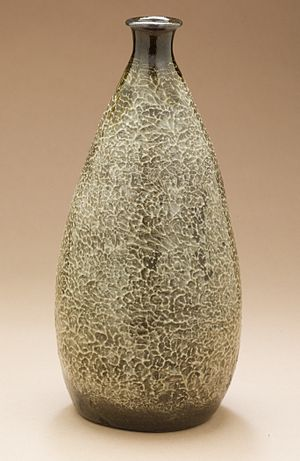 Agano ware - Image: Sake Bottle (tokkuri) with Textured Surface LACMA M.2004.299.1