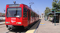 San Diego Trolley Santee Trolley Town Center.JPG