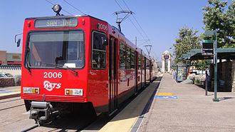 Siemens SD-100 and SD-160 - A San Diego Trolley street level SD-100