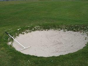 English: Sand trap, Kilspindie Small, perfectl...