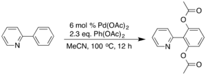 Pd-catalyzed C-H activation reaction