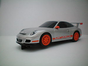 Scalextric - A Porsche 997 Scalextric model