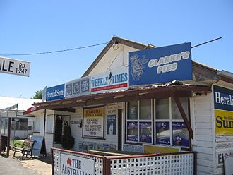 A general store in Scarsdale, Victoria, Australia operates as a post-office, newsagent, petrol station, video hire, grocer and take-away food retailer ScarsdaleGeneralStore.JPG