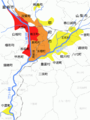 Schistosoma japonicum infection levels Kofu Maps 2.png