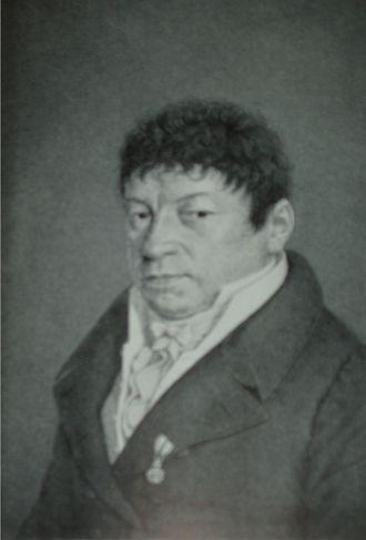 Biographies of Mozart - Portrait of Friedrich Schlichtegroll; artist unknown