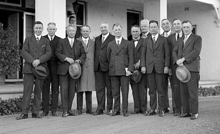 The Scullin Government sworn in, October 1929 Scullin Ministry, 1929.jpg