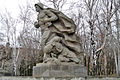Sculpture of marine with a bunch of grenades and wounded soldiers 001.jpg
