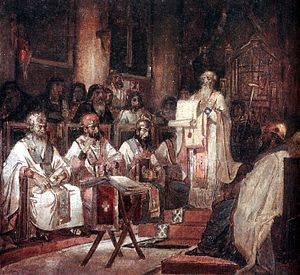 Second Ecumenical council by V.Surikov.jpg